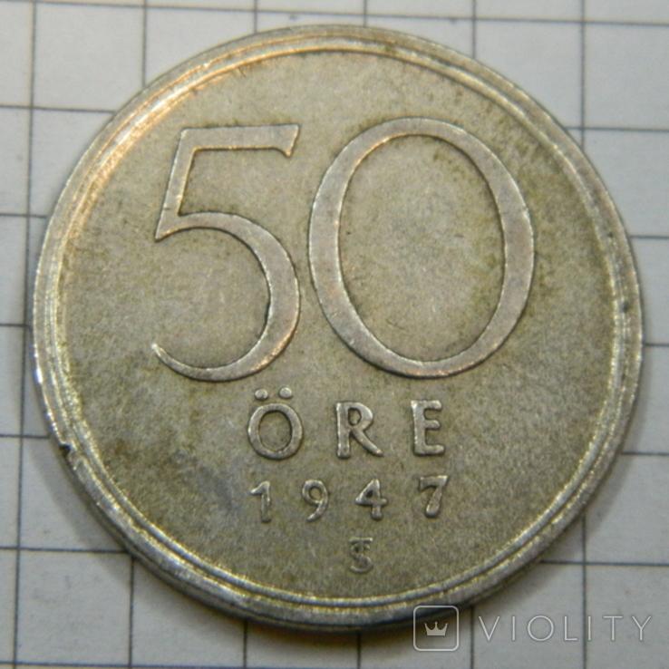 50 оре 1947 серебро, фото №2