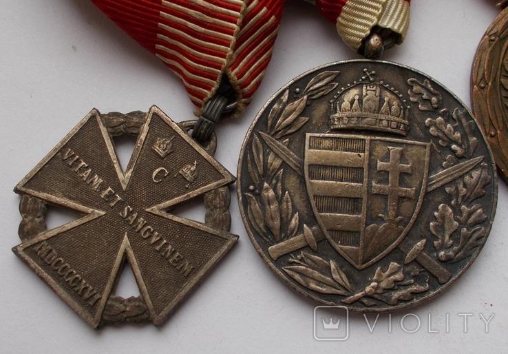 Комплект медалей на ветерана Первой мировой войны., фото №3