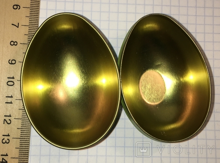 Шкатулка жестяная, пасхальное яйцо, зайчик (кролик), фото №5