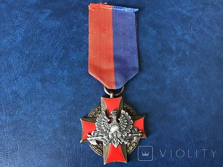 Польша крест пожарников За спасение жизни и имущества 3 степени, фото №2
