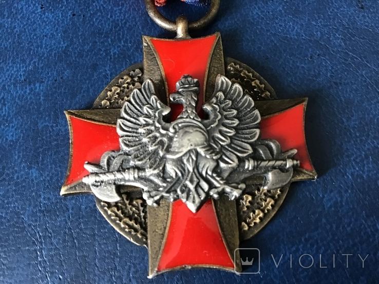Польша крест пожарников За спасение жизни и имущества 3 степени, фото №3