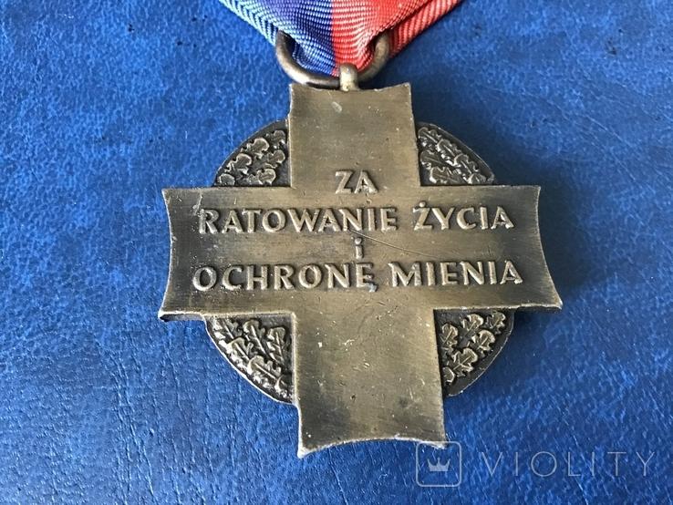Польша крест пожарников За спасение жизни и имущества 3 степени, фото №5
