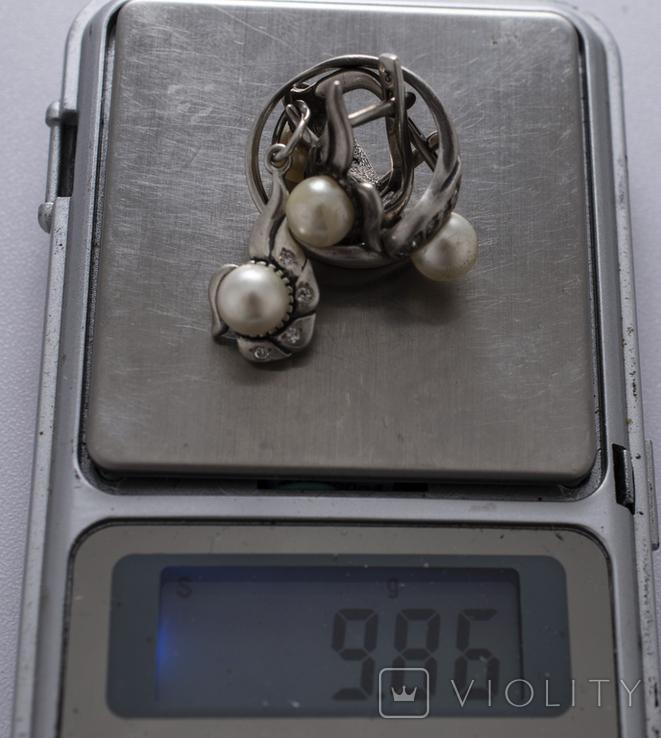 Гарнітур срібний, фото №10