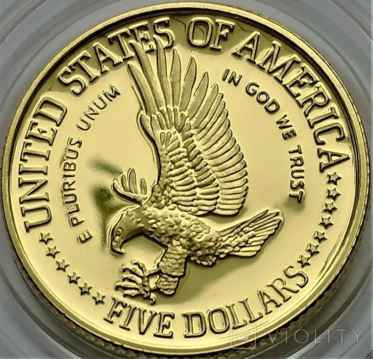5 доларів 1986 року, STATUE OF LIBERTY CENTENNIAL, Сторіччя статуї Свободи, фото №3