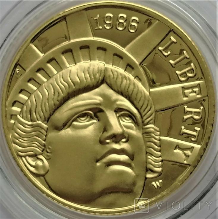 5 доларів 1986 року, STATUE OF LIBERTY CENTENNIAL, Сторіччя статуї Свободи, фото №4
