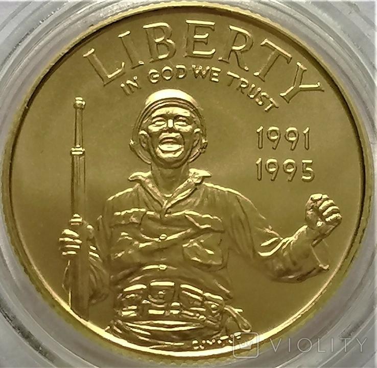 5 доларів 1993 року, WORLD WAR II 50TH ANNIVERSARY. 50 - річчя Другої світової війни, фото №2