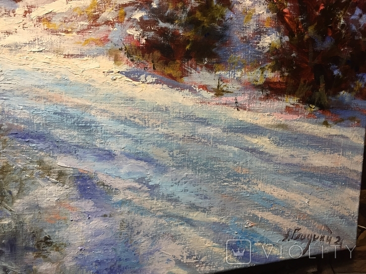 Закарпатский пейзаж масло холст 60/80, фото №5