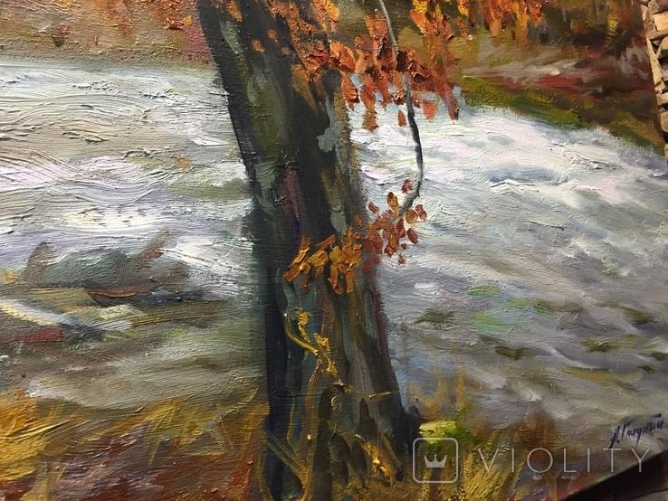 Пейзаж с горной речкой масло холст 60/80, фото №4