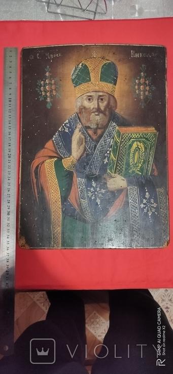 Николай Чудотворец украинская икона конца 18 начала 19 ст., фото №2