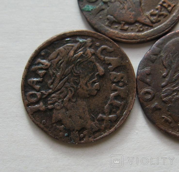 4. Солиды. Боратинки 1664 года. Ян ІІ Казимир Ваза ( 3 штуки )., фото №7