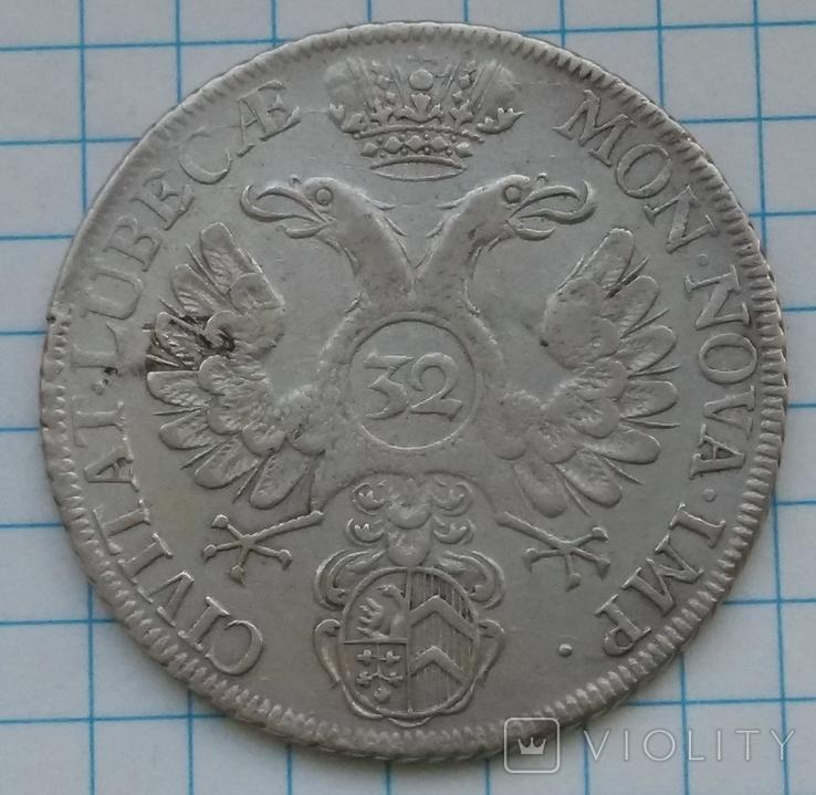 32 шиллинга 1738 года, Любек, Германия , Серебро, фото №3