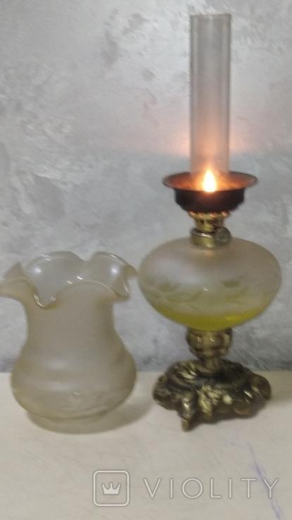 Керасинова гасова лампа нічник, фото №7