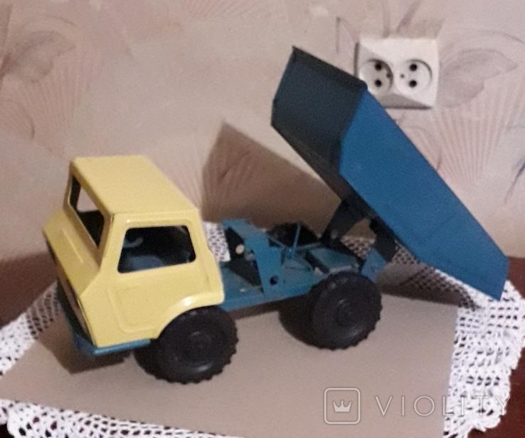 Игрушка СССР Машина Грузовик Самосвал большая,металл,комплектная, фото №3