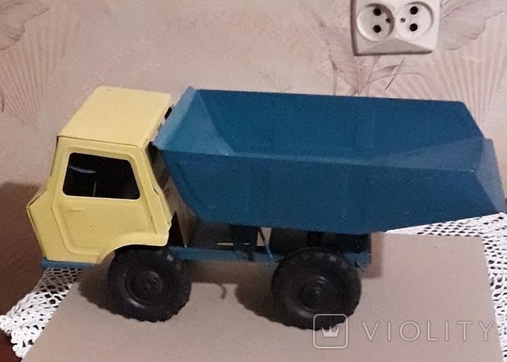 Игрушка СССР Машина Грузовик Самосвал большая,металл,комплектная, фото №5