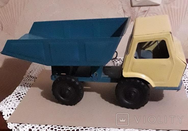 Игрушка СССР Машина Грузовик Самосвал большая,металл,комплектная, фото №2