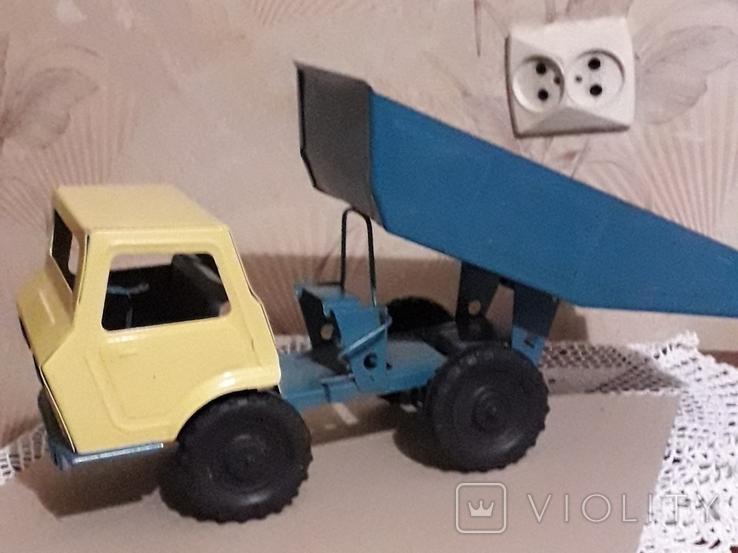 Игрушка СССР Машина Грузовик Самосвал большая,металл,комплектная, фото №11