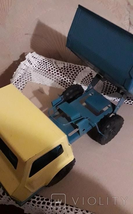 Игрушка СССР Машина Грузовик Самосвал большая,металл,комплектная, фото №12