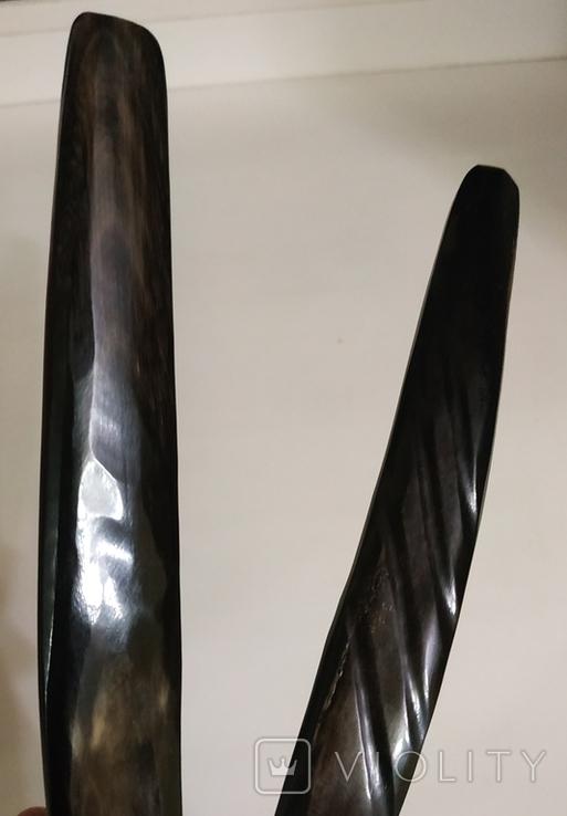 Столовый прибор ложка и вилка из кости., фото №11