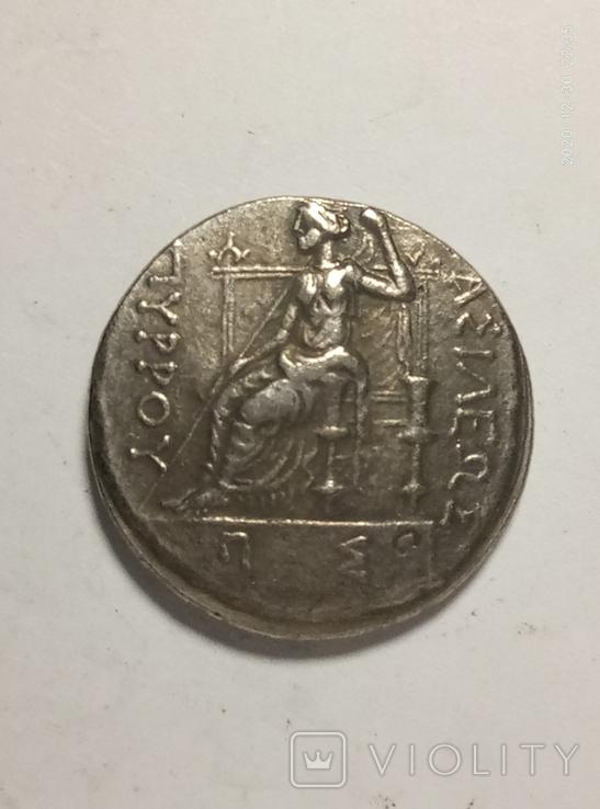Древняя Греция копия монеты посеребренная г84, фото №3