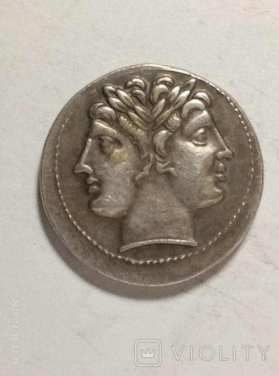Древняя Греция копия монеты посеребренная г93, фото №3