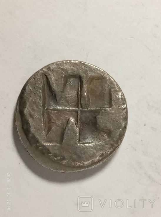 Древняя Греция копия монеты посеребренная г94, фото №3