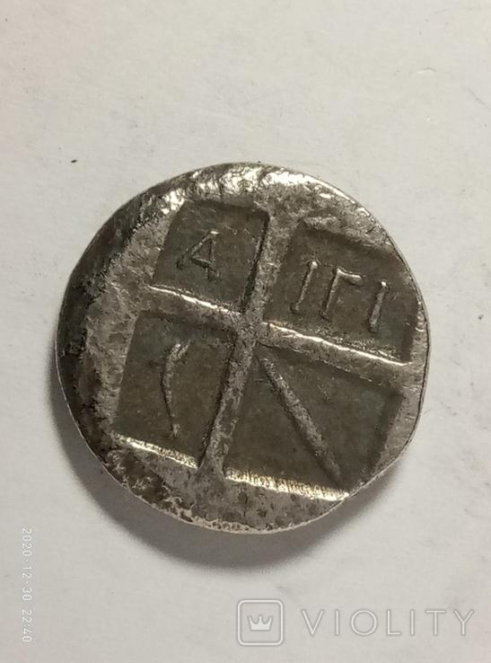 Древняя Греция копия монеты посеребренная г95, фото №3