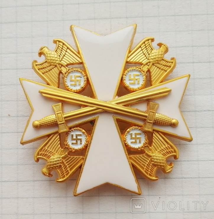 Германия. Третий Рейх. Орден заслуг Германского орла с мечами. Копия, фото №2