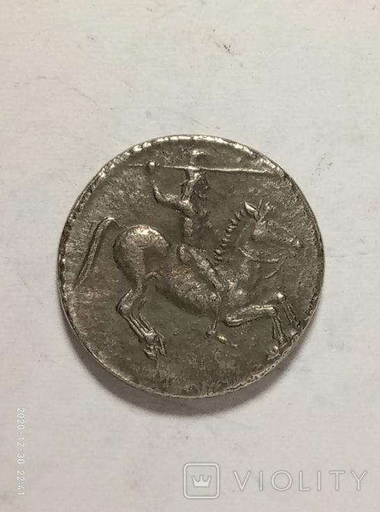 Древняя Греция копия монеты посеребренная г98, фото №2