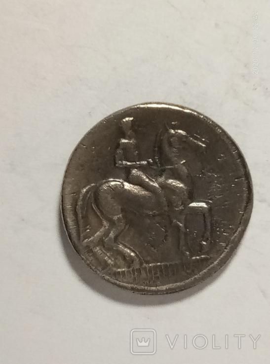Древняя Греция копия монеты посеребренная г99, фото №3