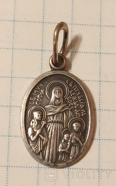 Ладанка серебро 925 пробы, фото №2
