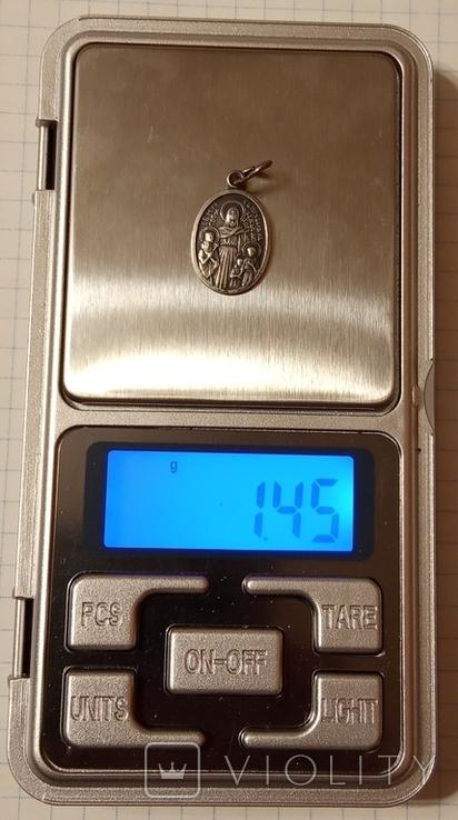 Ладанка серебро 925 пробы, фото №6