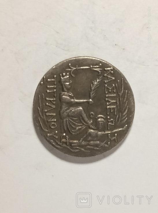 Древняя Греция копия монеты посеребренная г101, фото №3
