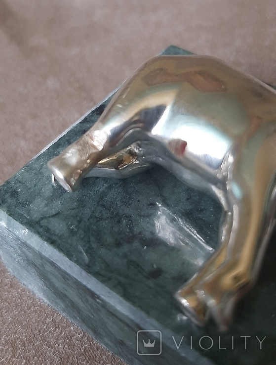 Статуэтка фигурка миниатюра серебро серебряная Слоник, фото №6
