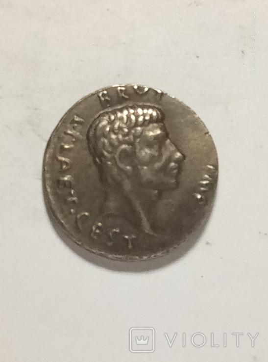 Древняя Греция копия монеты посеребренная г104, фото №2