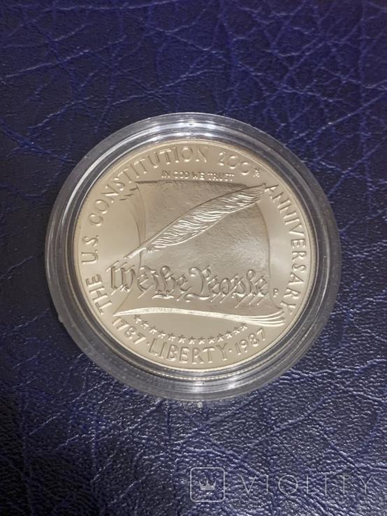 1 доллар 1987 P США 200 лет Конституции США серебро / срібло, фото №2