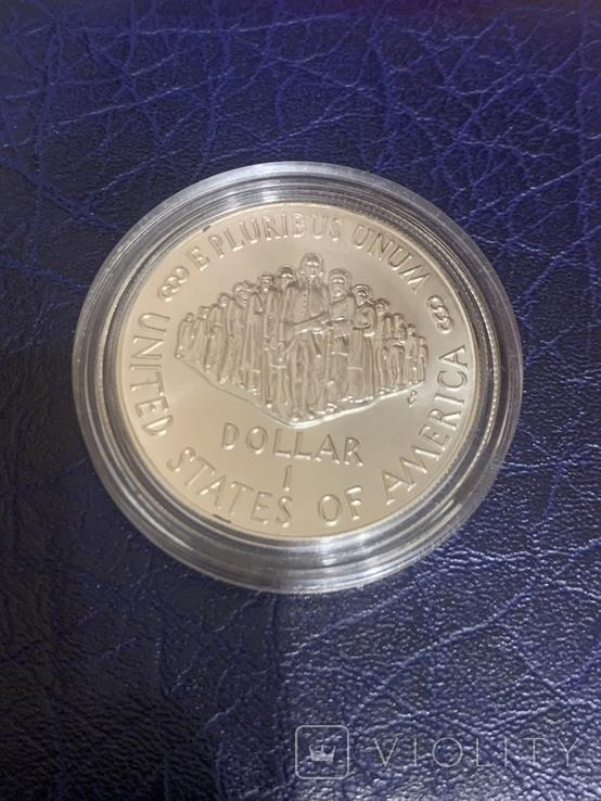 1 доллар 1987 P США 200 лет Конституции США серебро / срібло, фото №3