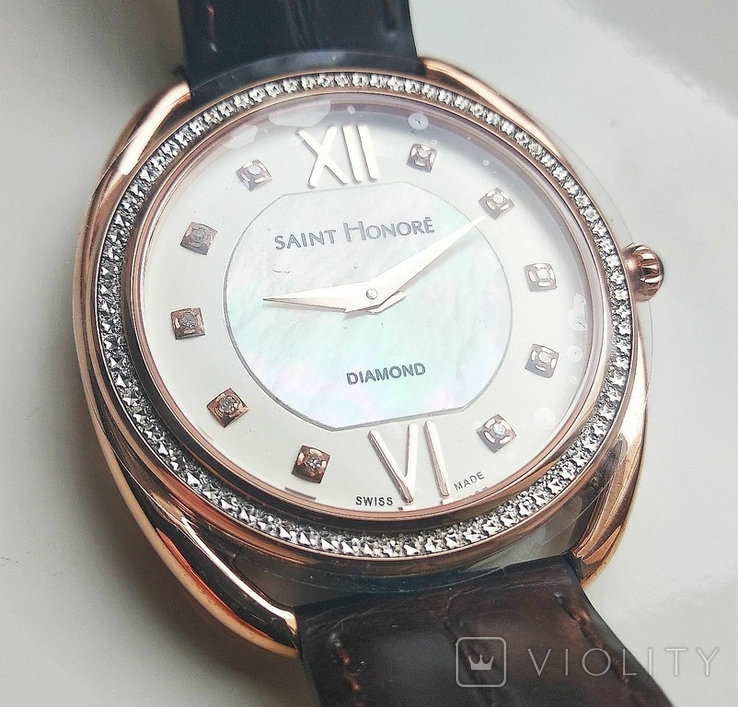 Женские часы SAINT HONOR Diamond, Swiss made, новые, фото №3