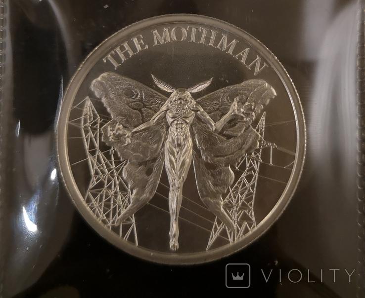 США Раунд Криптозоология Motman 2 унции 999, фото №4