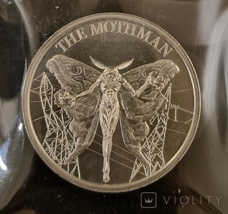 США Раунд Криптозоология Motman 2 унции 999, фото №2