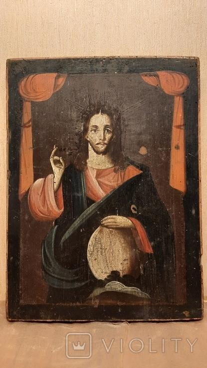 Икона Спаситель Мира 19 век, фото №2