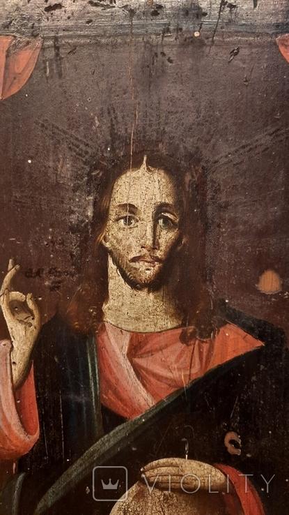 Икона Спаситель Мира 19 век, фото №3