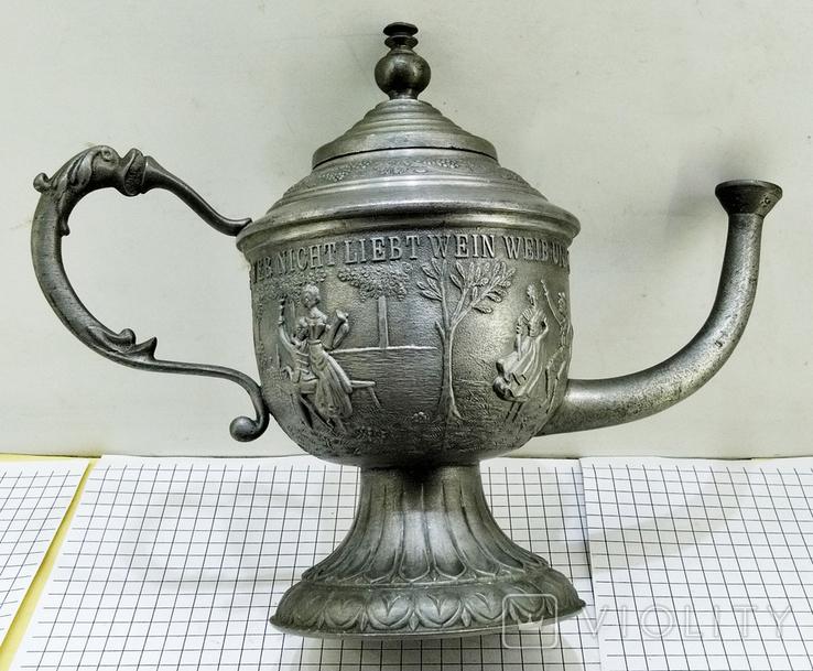 Чайник - заварник Германия. Олово. Клеймо, фото №2