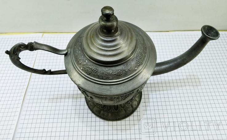 Чайник - заварник Германия. Олово. Клеймо, фото №8