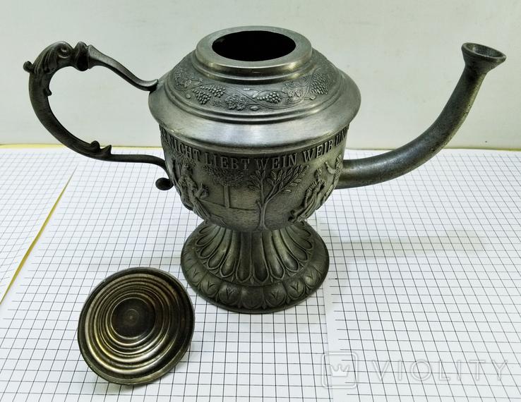 Чайник - заварник Германия. Олово. Клеймо, фото №10