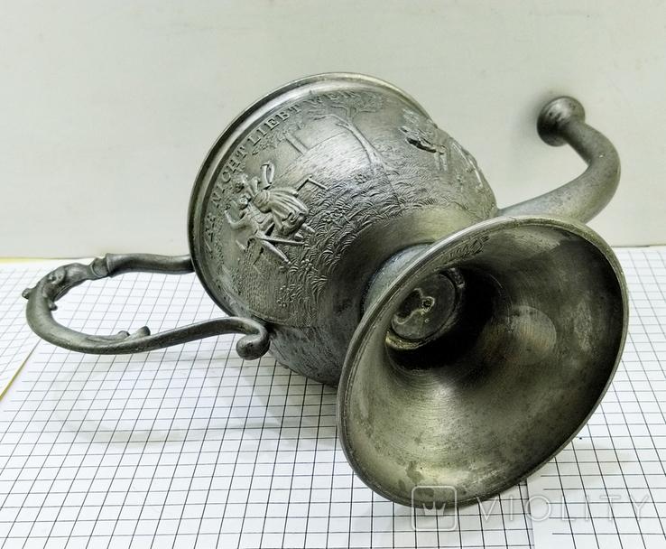Чайник - заварник Германия. Олово. Клеймо, фото №12