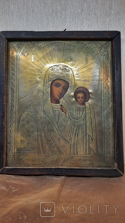 Икона Казанской Божией Матери 19 век, фото №2