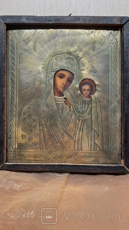 Икона Казанской Божией Матери 19 век, фото №3