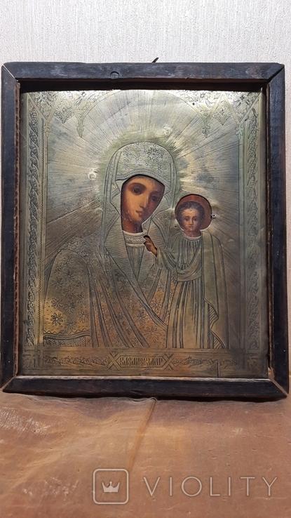 Икона Казанской Божией Матери 19 век, фото №4