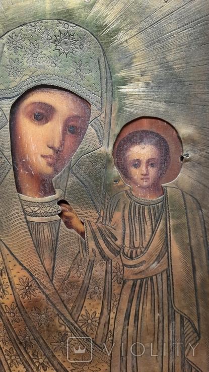 Икона Казанской Божией Матери 19 век, фото №5
