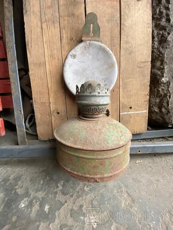 Лампа керосиновая. Зелёная., фото №2